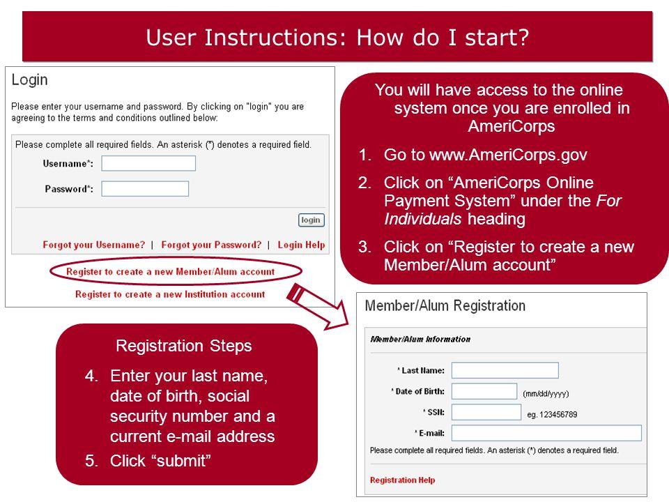 User Instructions: How do I start.