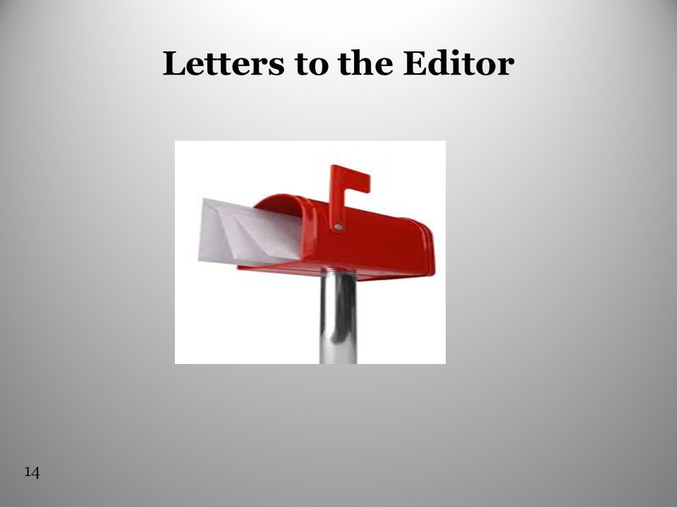Letters to the Editor 14