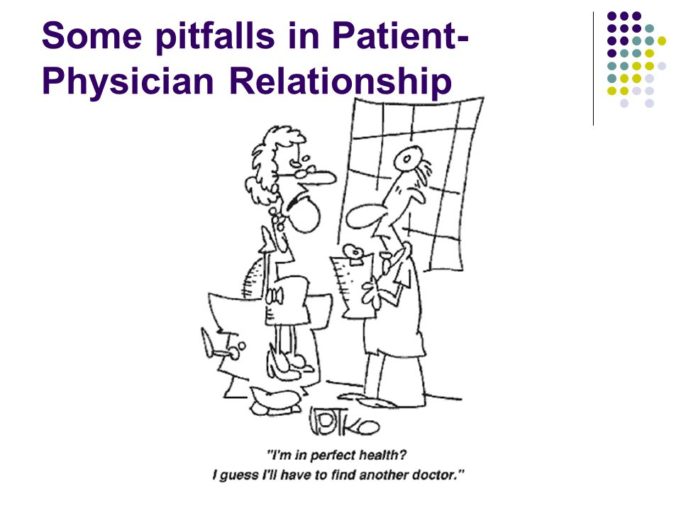 Some pitfalls in Patient- Physician Relationship