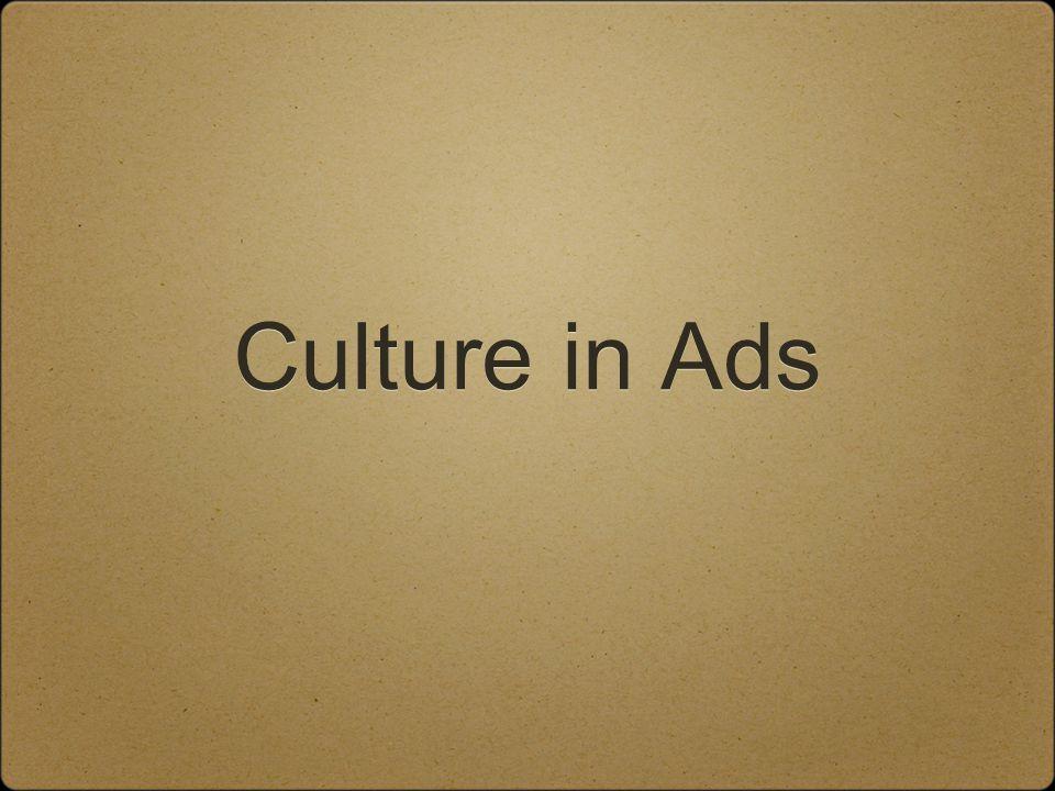 Culture in Ads