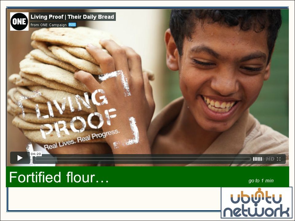 Fortified flour… go to 1 min