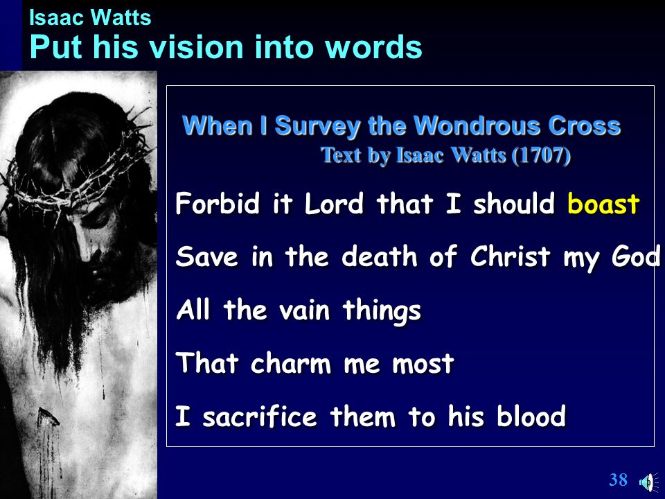 37 Isaac Watts Purpose, Inspiration.