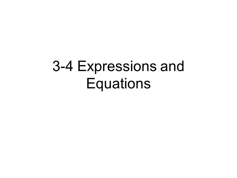 Phrases to Algebraic Expressions Continuation of the translations we had in Chapter 1 and 2.