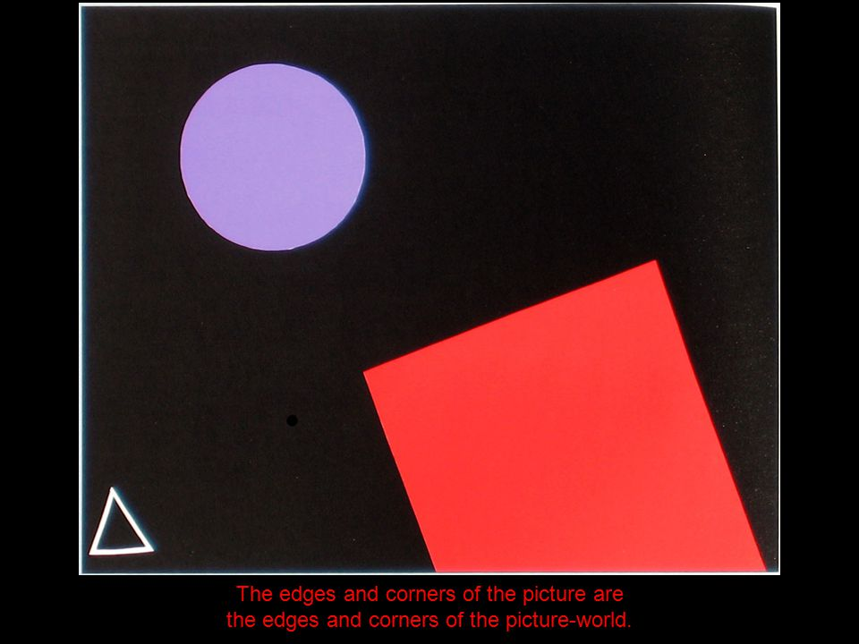 The edges and corners of the picture are the edges and corners of the picture-world.
