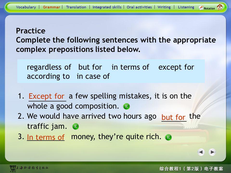 Consolidation Activities- Grammar1 1.