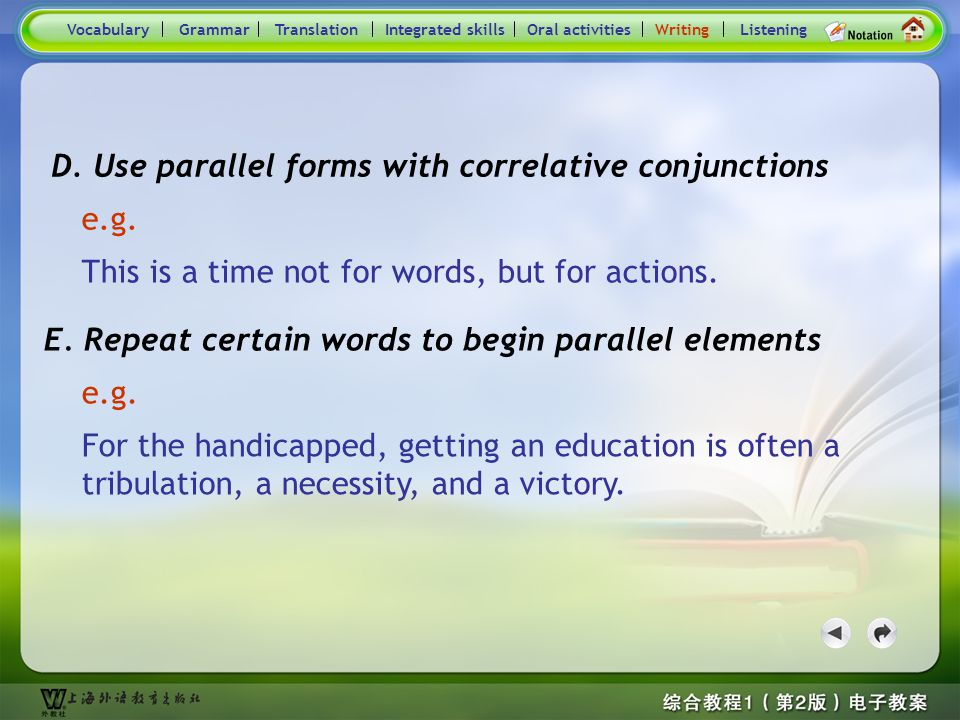 Consolidation Activities- Writing e.g.B.