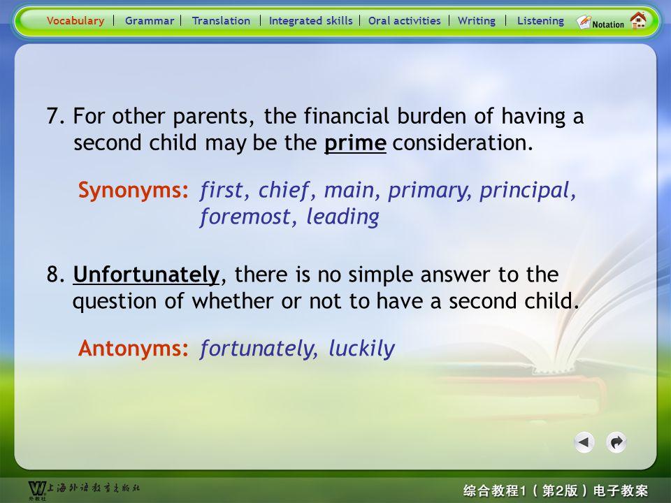 Consolidation Activities- Synonym / Antonym3 5.