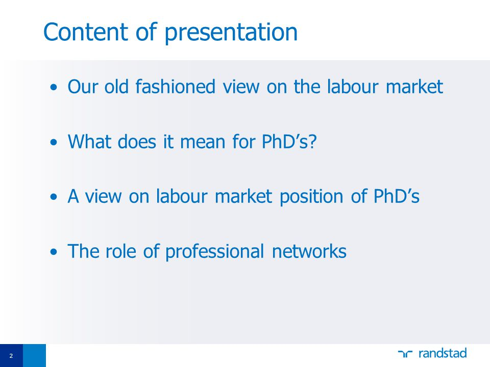 13 What does it mean for PhD's(2) Number of PhD positions is worldwide unrelated to the number of direct job openings Production of PhDs has far outstripped demand for university lecturers and researchers PhD's as cheap labour, even slave labour 'Interests of universities and tenured academics are misaligned with those of PhD students' Economist 18-12-2010 US figures: 100 000 new PhD's against only 16 000 new professorships 40% increase in OECD countries between 1998 and 2006