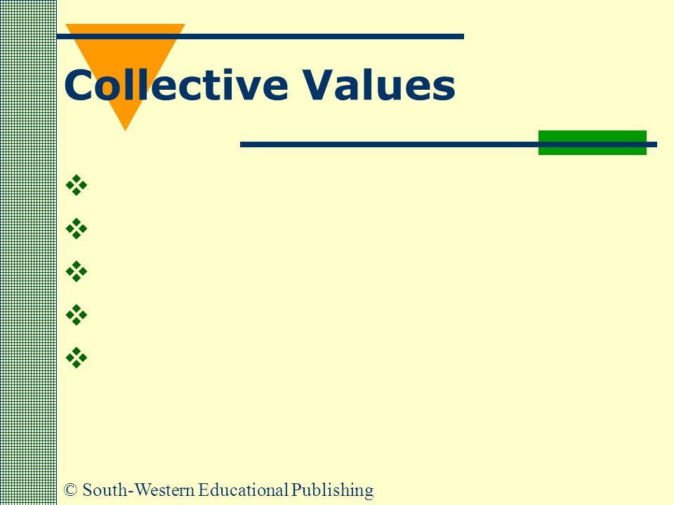 © South-Western Educational Publishing Collective Values     