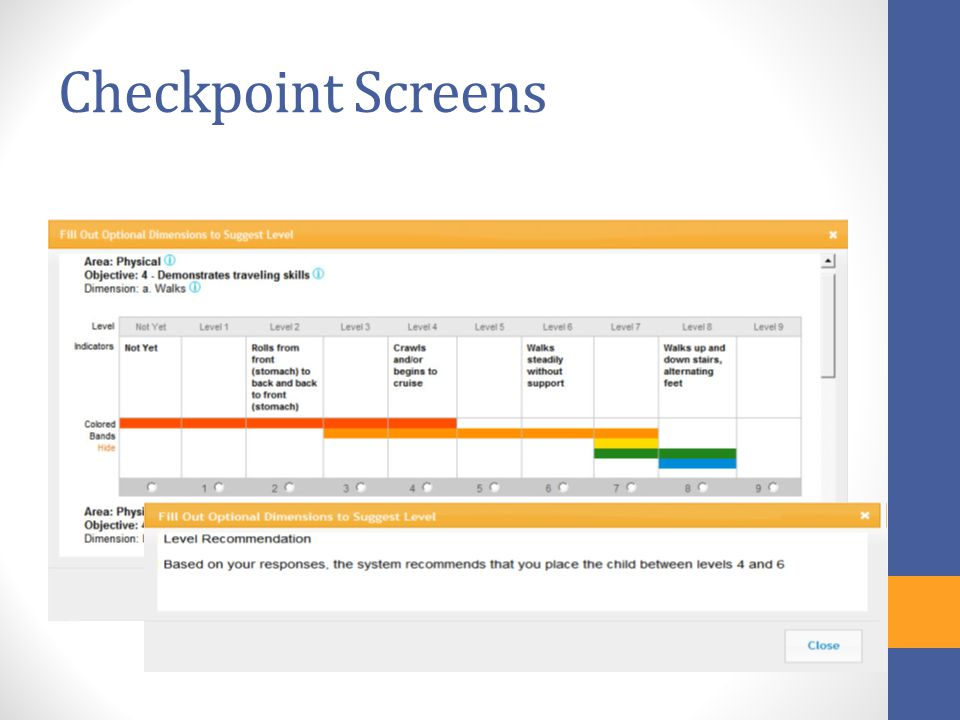 Checkpoint Screens