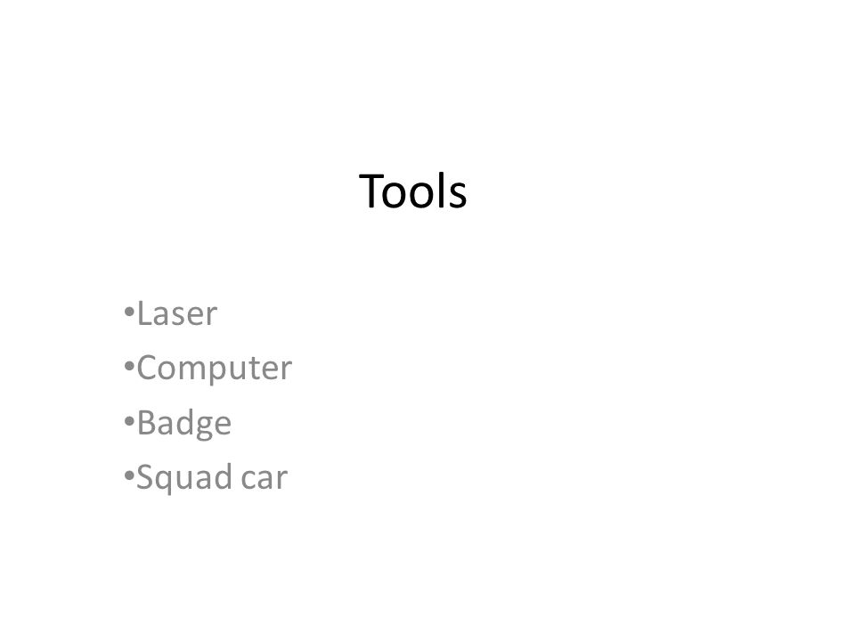 Tools Laser Computer Badge Squad car