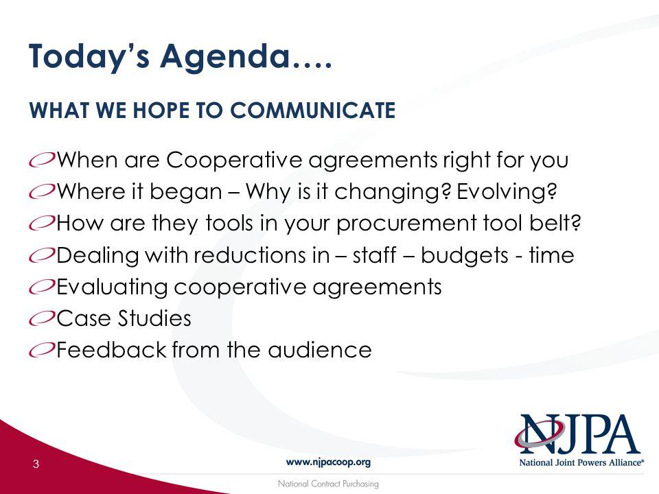 Today's Agenda….
