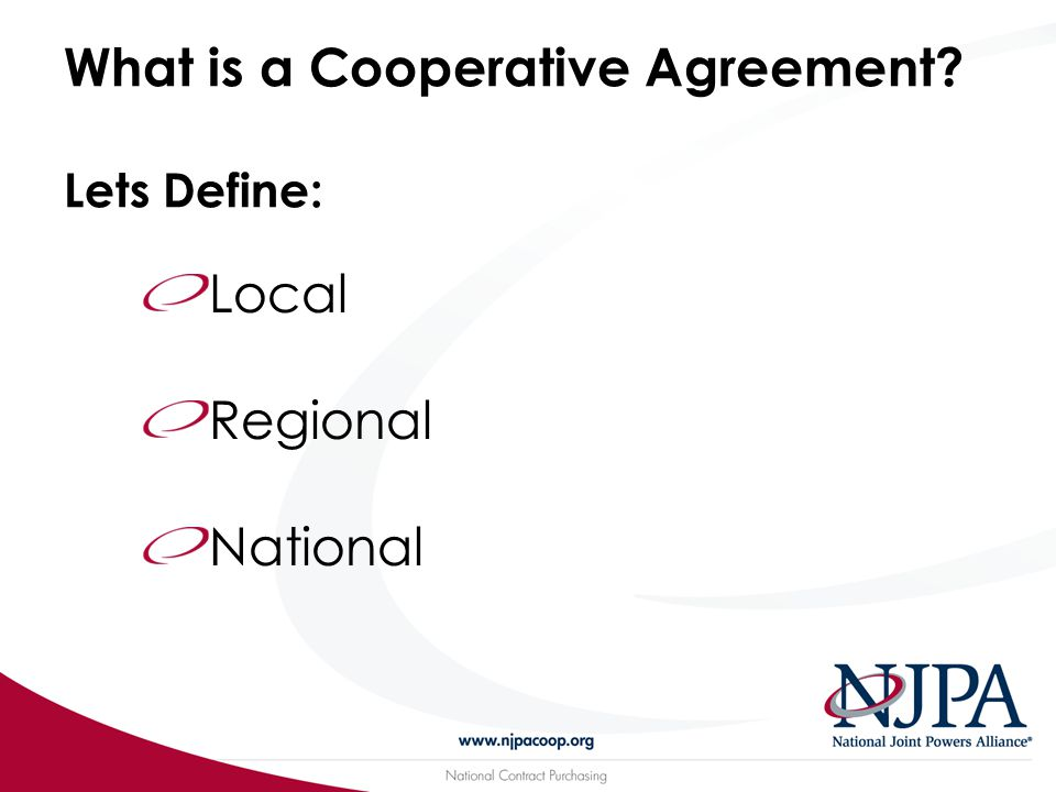 History of Cooperative Agreements… 1)Where it all began 2)Why it is changing…Evolving?.