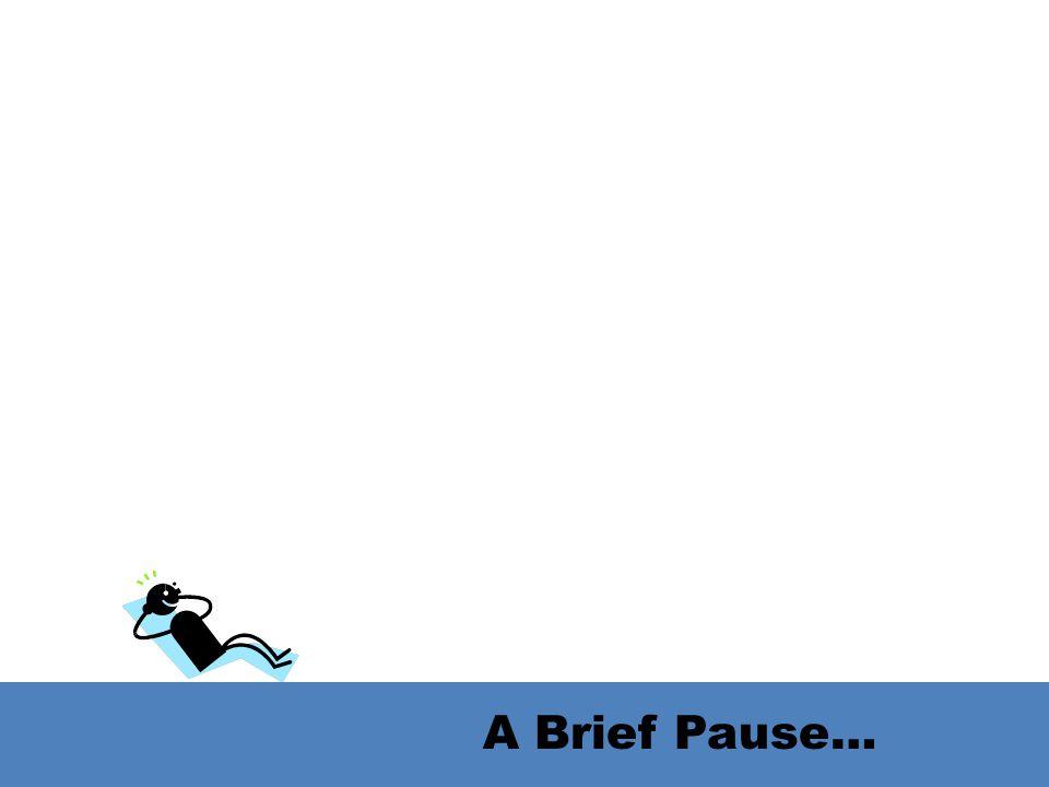A Brief Pause…