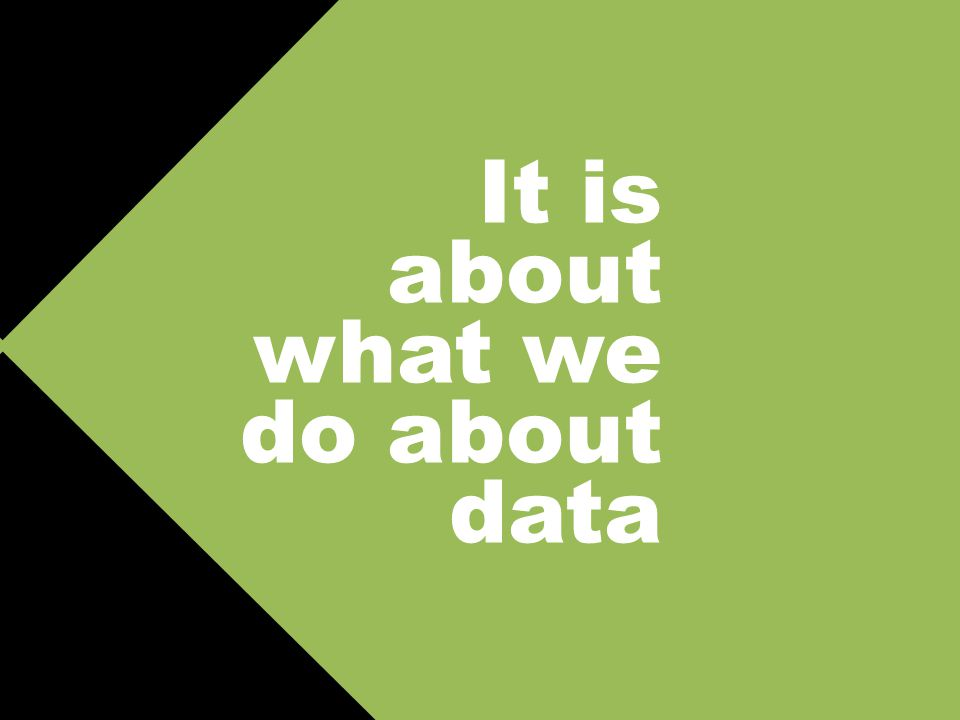 It is about what we do about data