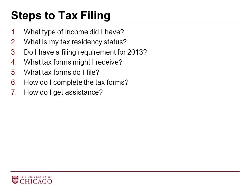 1.What type of income did I have. 2.What is my tax residency status.