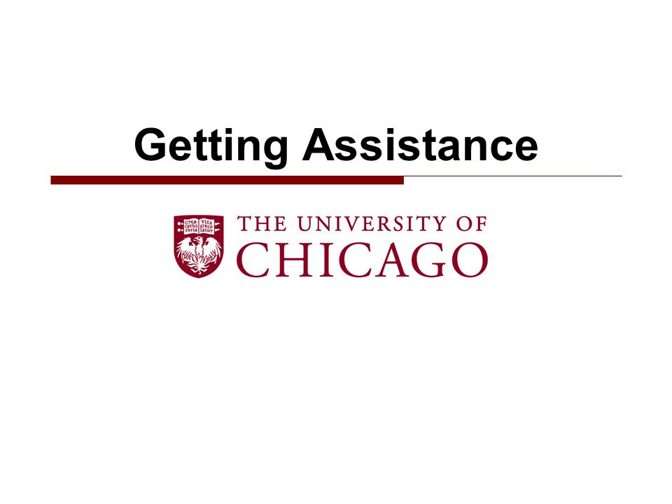 Getting Assistance