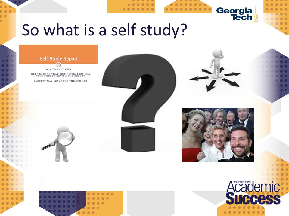 So what is a self study