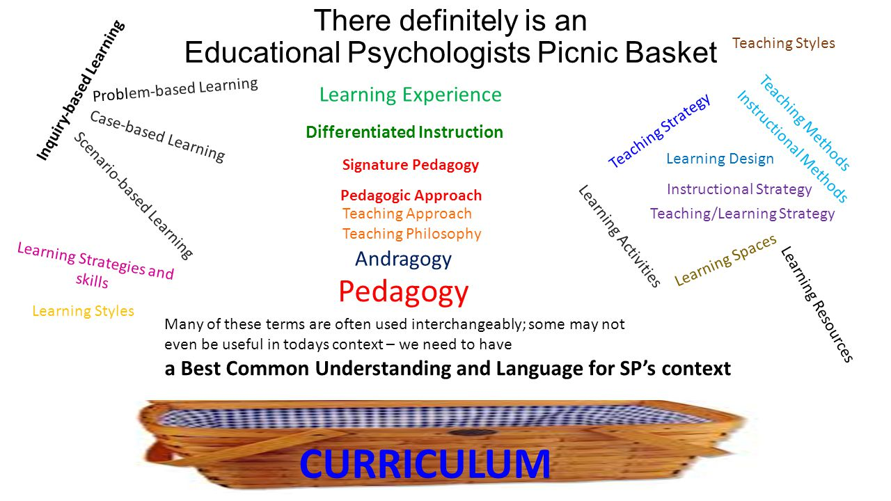 There definitely is an Educational Psychologists Picnic Basket Teaching/Learning Strategy Learning Styles Instructional Strategy Differentiated Instru