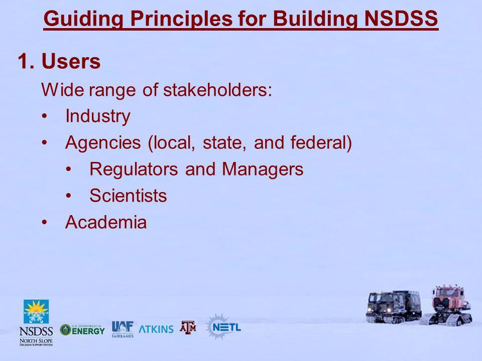 Guiding Principles for Building NSDSS 2.