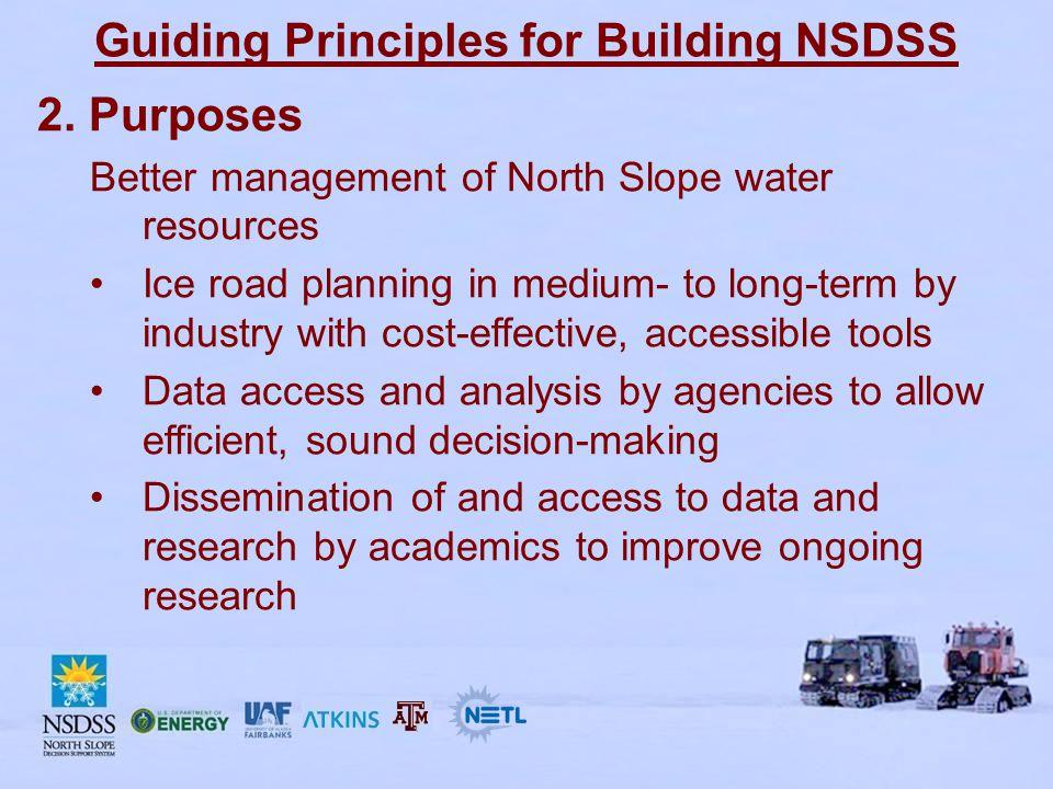 Guiding Principles for Building NSDSS 3.