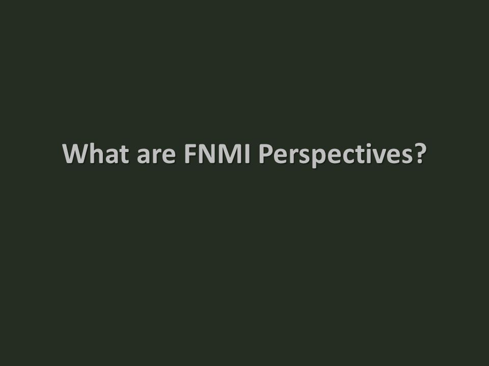 What are FNMI Perspectives?