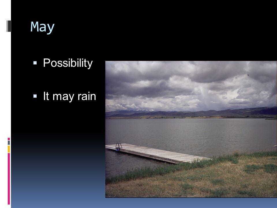 May  Possibility  It may rain