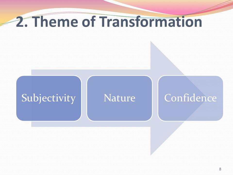 2. Theme of Transformation SubjectivityNatureConfidence 8