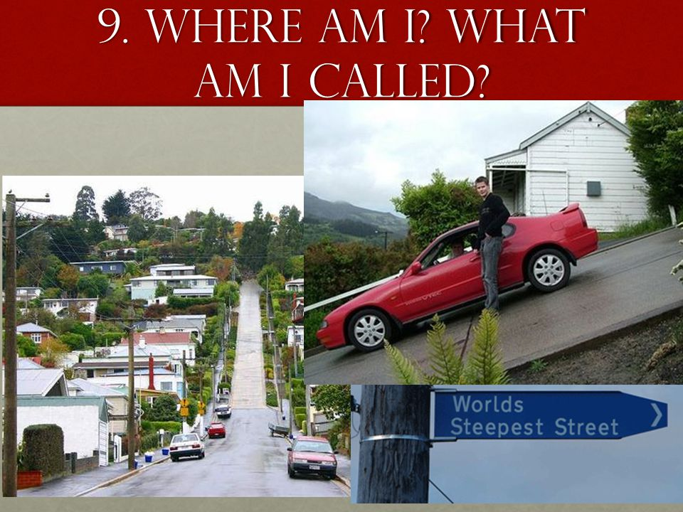 9. Where am I What am I called