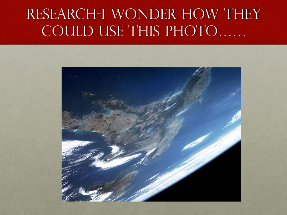 Research-I wonder how they could use this photo……