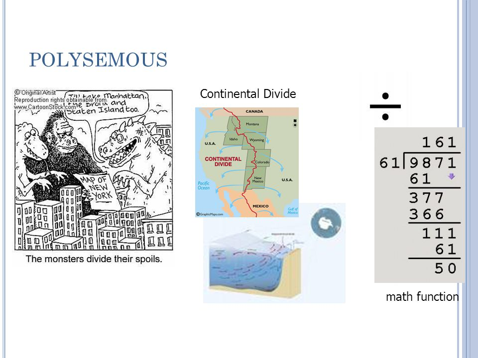 POLYSEMOUS Continental Divide math function