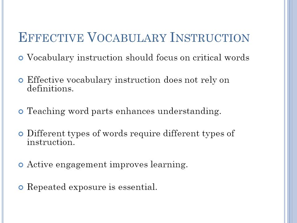 P LEASE ANSWER : Should teachers focus their direct instruction of vocabulary on sesquipedalian terms.