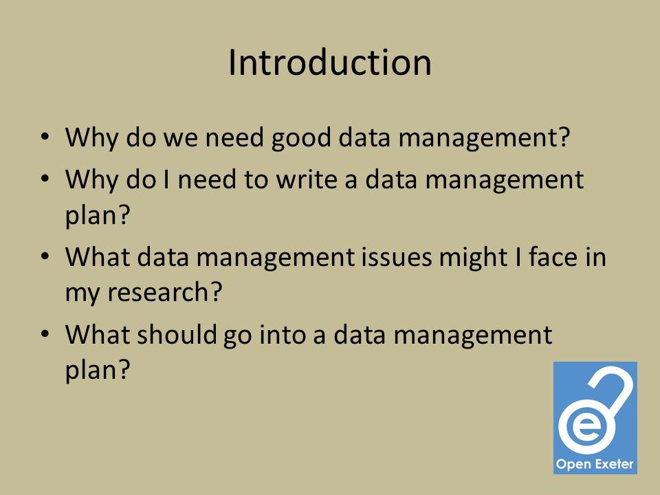 What is a Data Management Plan (DMP).