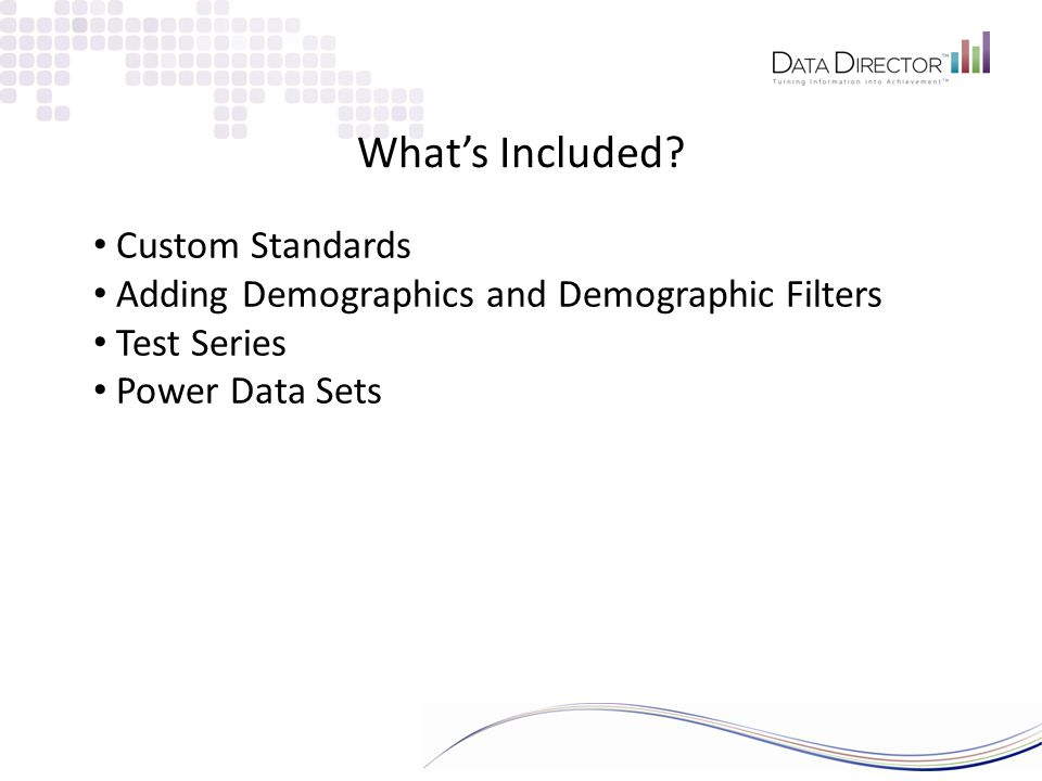 Power Data Sets What can I do with them.