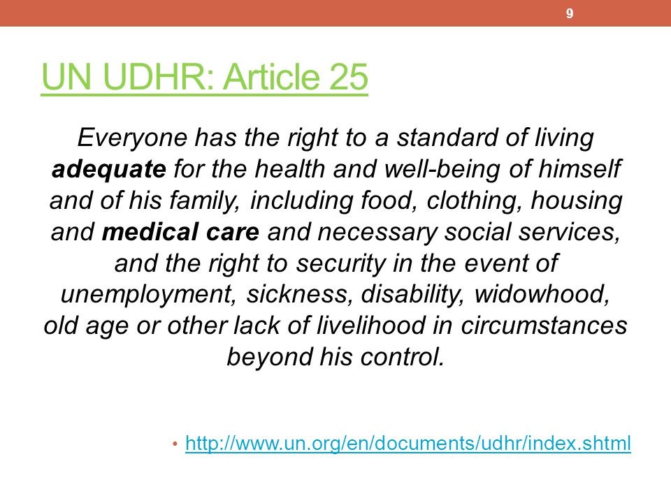 """WHAT ARE """"HUMAN RIGHTS""""? The UN Universal Declaration of Human Rights, 1948 8"""
