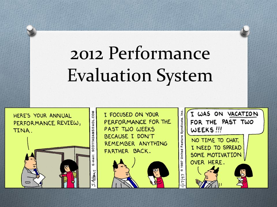 2012 Performance Evaluation System