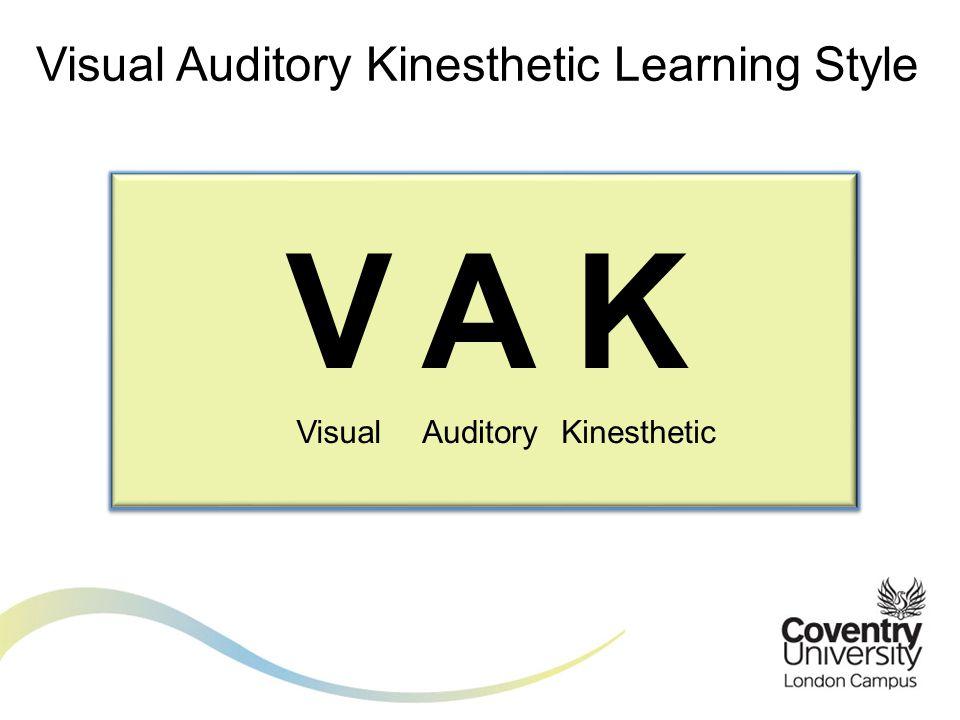 Visual Visual Auditory Kinesthetic Learning Style VAK AuditoryKinesthetic
