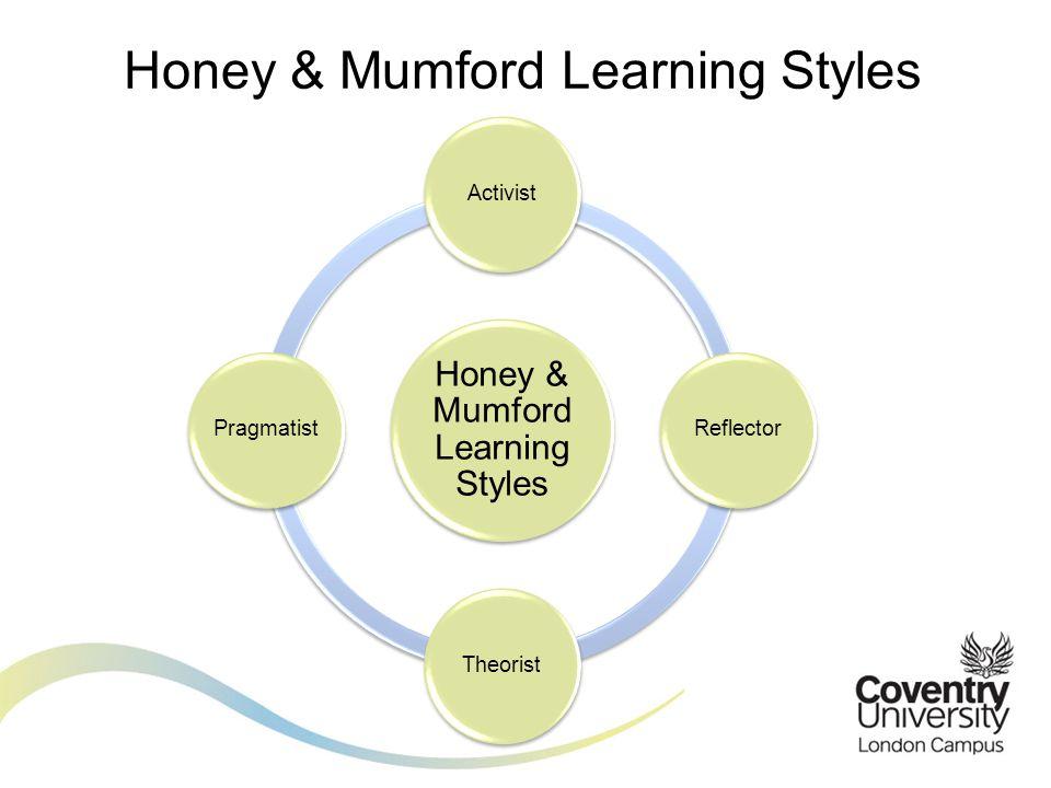 Honey & Mumford Learning Styles ActivistReflectorTheoristPragmatist