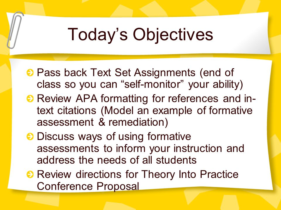 Clarifying APA Format The OWL (Online Writing Lab) at Purdue http://owl.english.purdue.edu/owl/resource/5 60/01/ Refer to your syllabus for citation examples Can you find the errors and rewrite correctly.