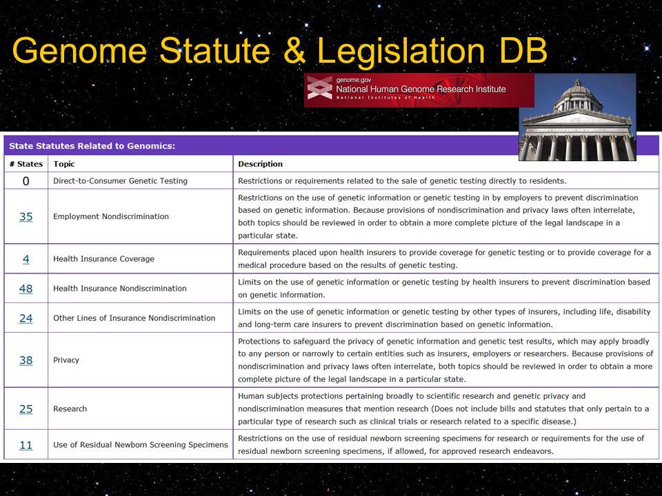 Genome Statute & Legislation DB