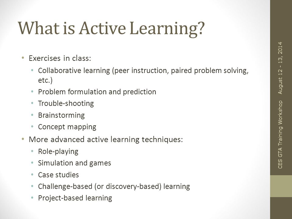 Why Active Learning.