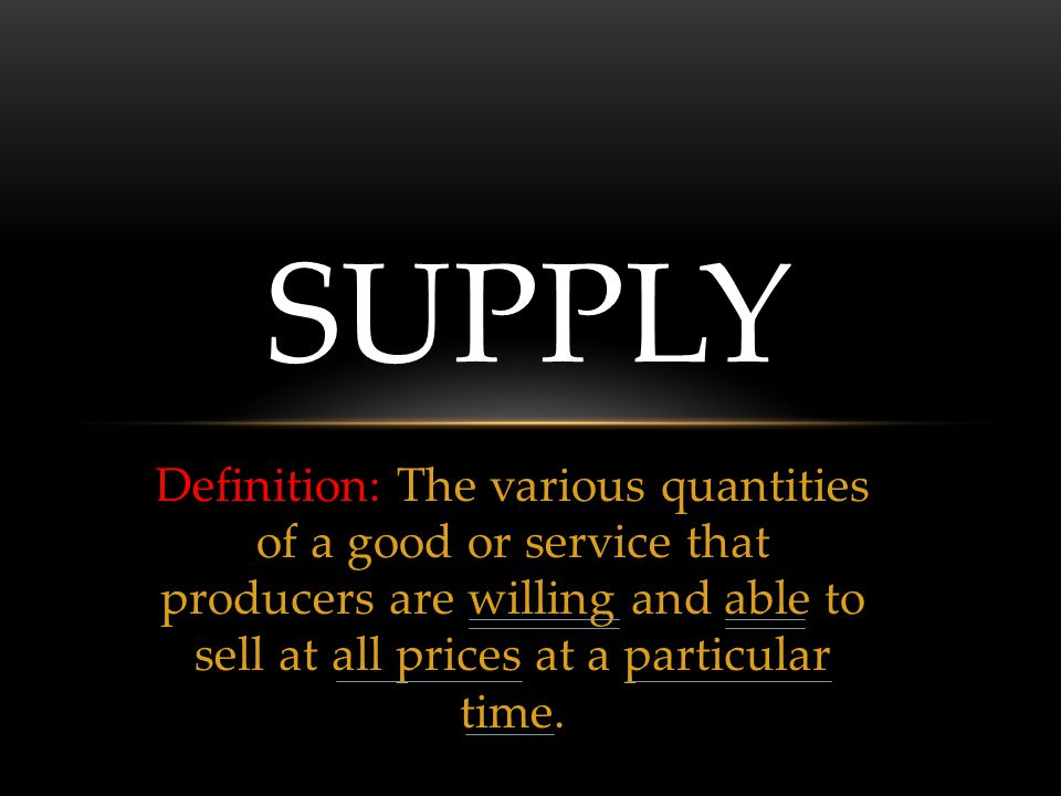 7 REASONS FOR A CHANGE IN SUPPLY 5.Change in Taxes or Subsidies Excise tax 6.