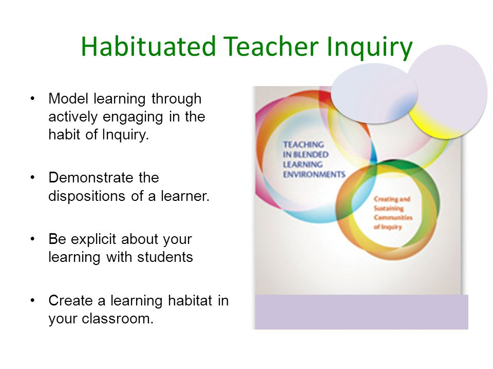 Habituated Teacher Inquiry Model learning through actively engaging in the habit of Inquiry.