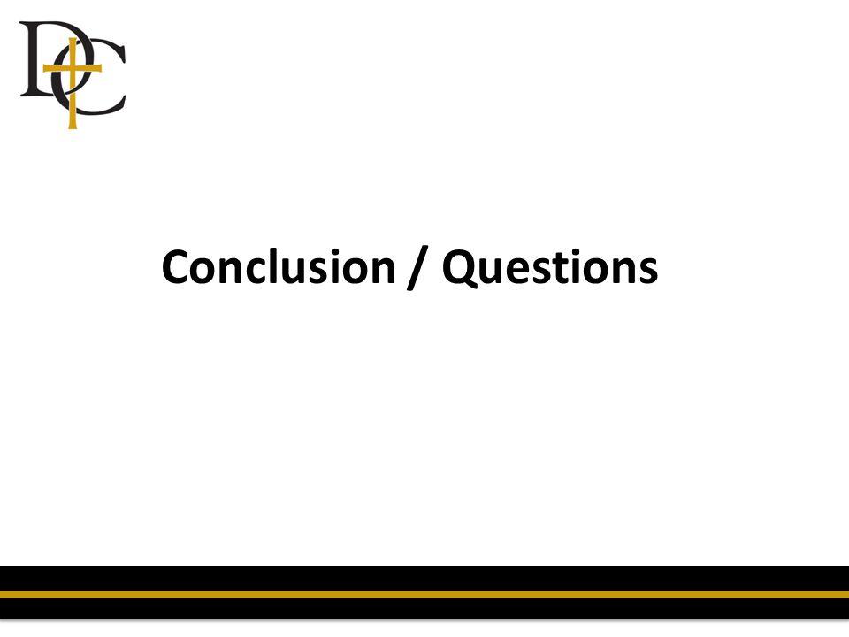 Conclusion / Questions