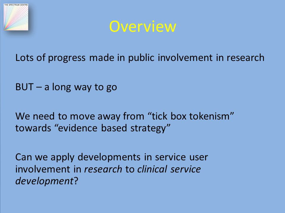 Patient & Public Involvement (PPI): moving the debate forward