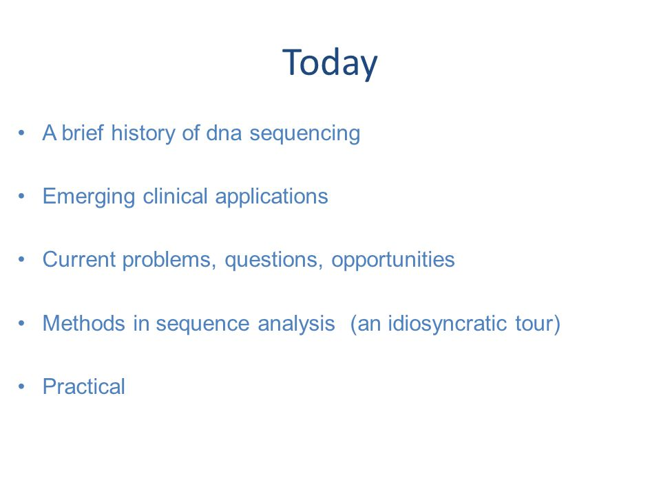 Cancer sequencing - treatment PMID: 24274178
