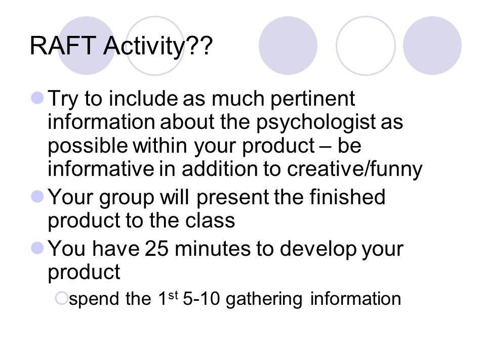 RAFT Activity .