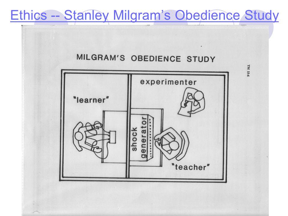 Ethics -- Stanley Milgram's Obedience Study