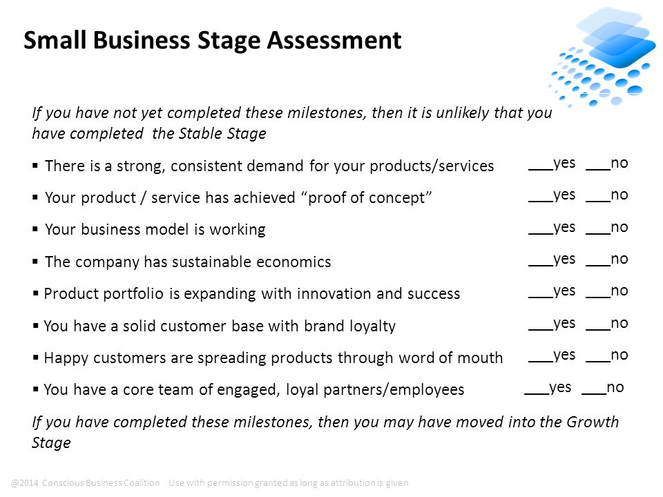 Milestones to Complete Your Current Stage Refer to the provided roadmap for your current stage of business.