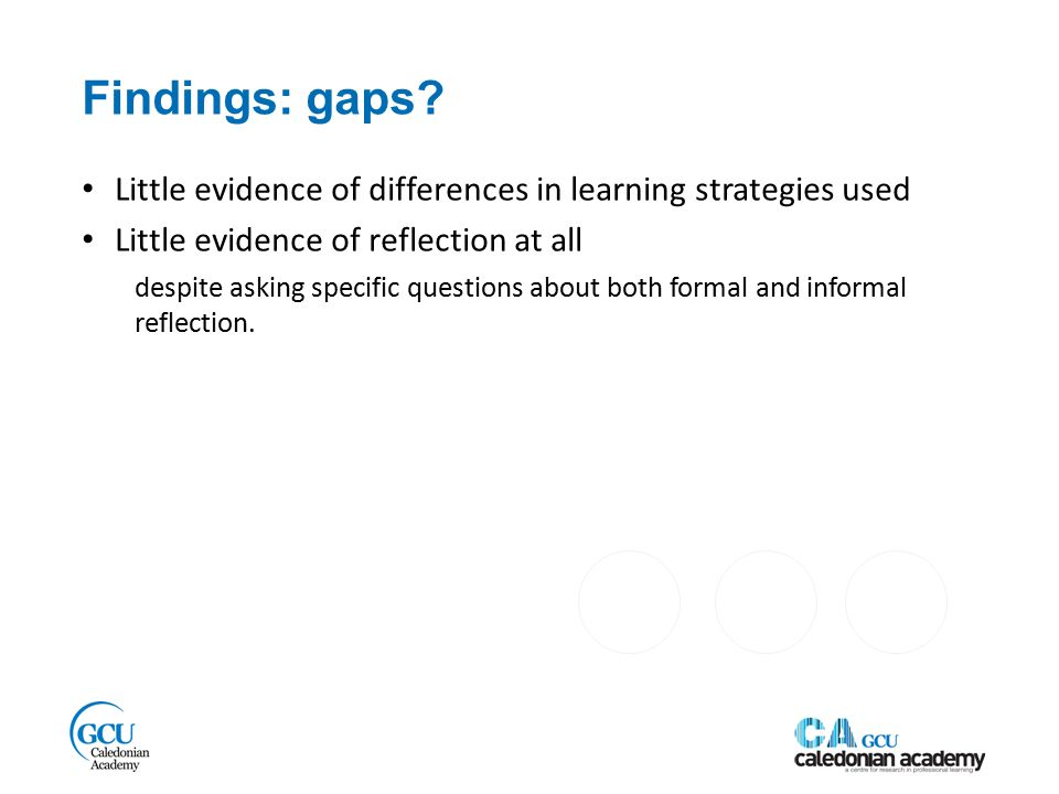 Findings: gaps.